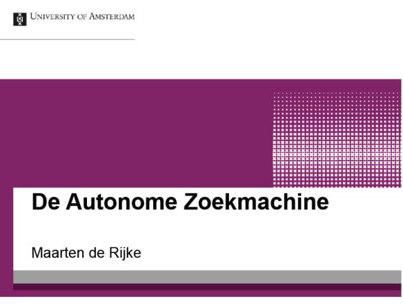 De Autonome Zoekmachine
